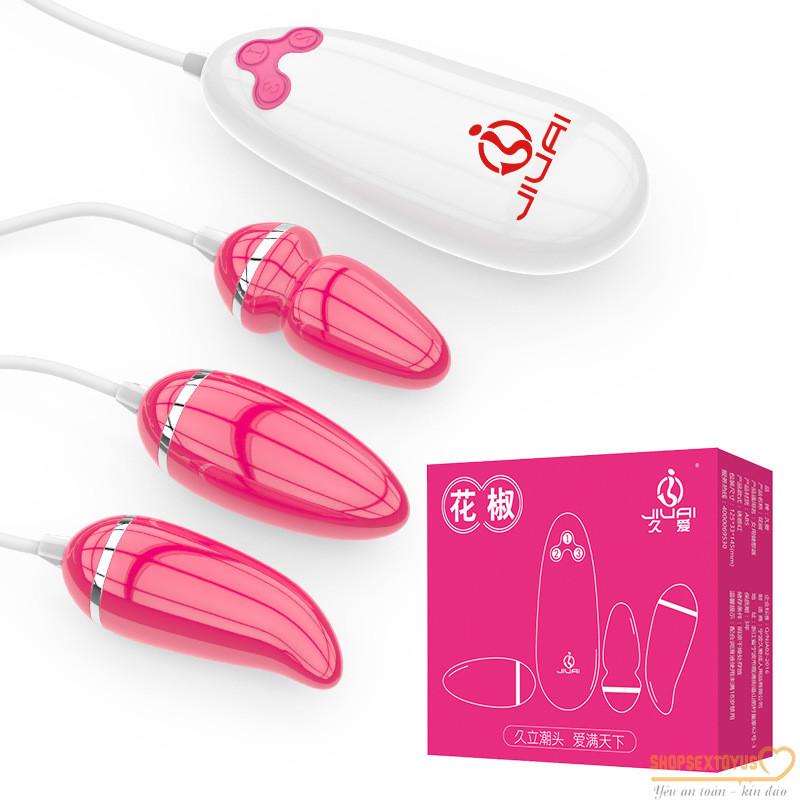 Trứng rung tình yêu 3 đầu silicone giá rẻ | dụng cụ đồ chơi thủ dâm nữ mới lạ