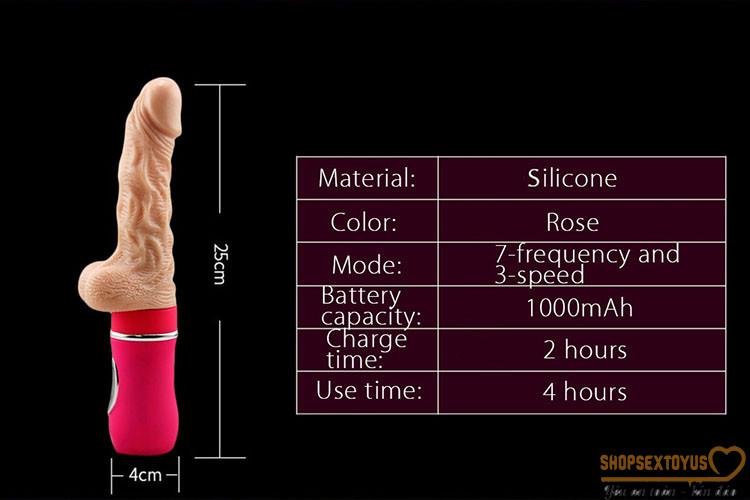Dương vật giả rung thụt tỏa nhiệt Ailighter   Máy rung tình dục nữ Ailighter silicone siêu mềm
