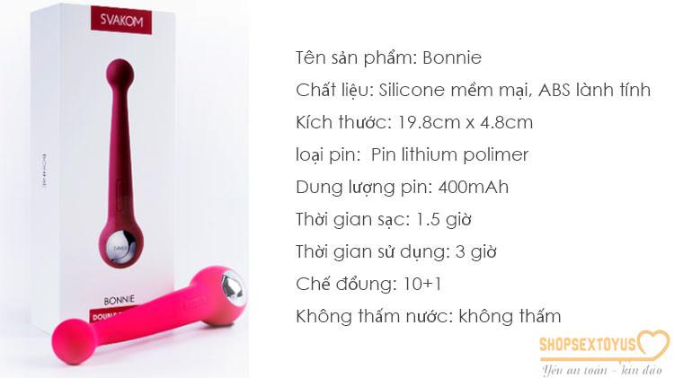 chày rung tình dục hai đầu có rung Svakom Bonnie – CR237   Sextoy đồ chơi tình dục đa năng Svakom mỹ