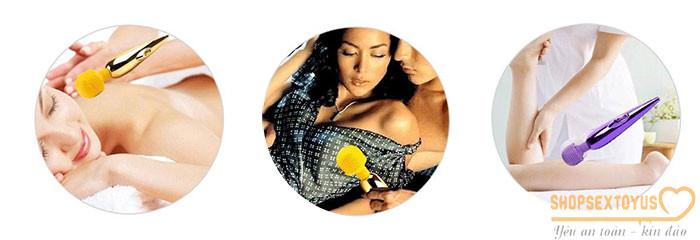 Chày rung tình dục kích thích nữ mạ kim sang trọng – CR245 | Máy rung mini dụng cụ tình yêu nữ