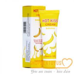 gel bôi trơn giá rẻ kích thích tình dục hương chuối Hot Kiss