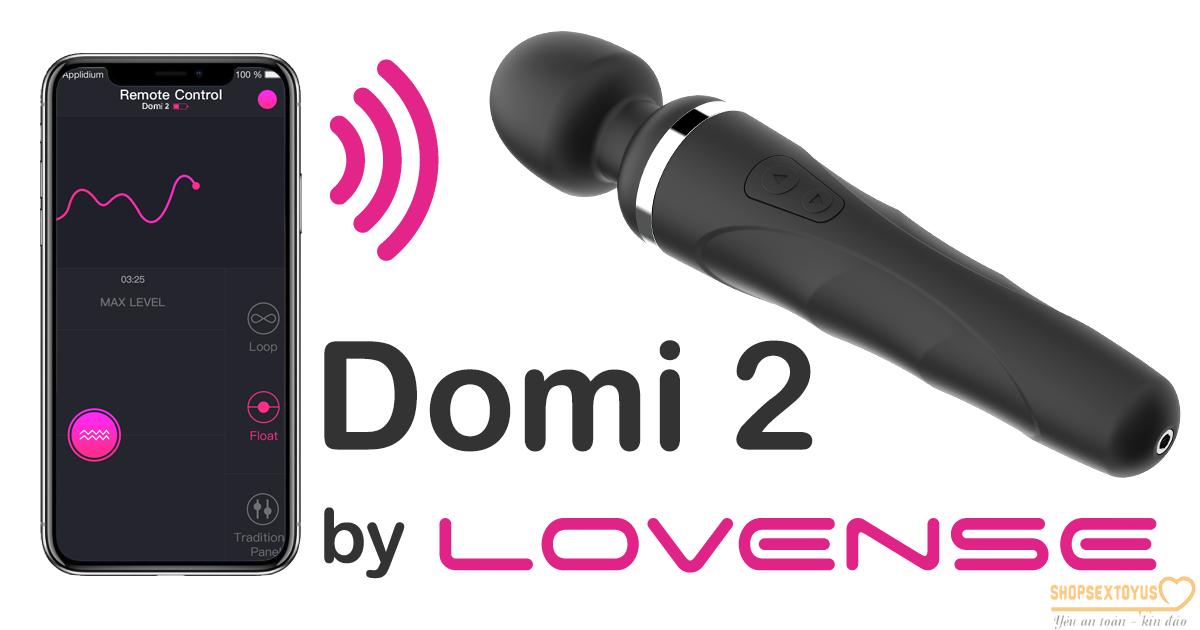 Chày rung Lovense DOMI rung đa chế độ – CR 277 | máy rung tình yêu cực mạnh không giới hạn LOVENSE